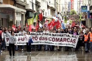 Manifestación en Ferrol en defensa del astillero (EFE)