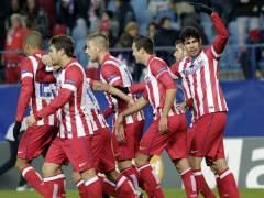 El Atlético de Madrid celebrando un gol. (ZIPI/EFE)