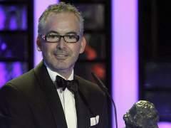 Pedro Solis recibe el Goya al mejor cortometraje de animación, por su trabajo en Cuerdas. (Alberto Martín/EFE)