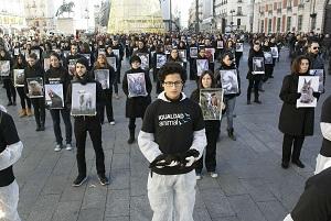 Protesta en la Puerta del Sol. Foto: EFE