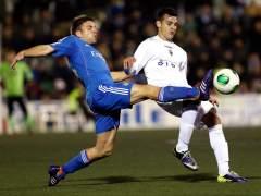 El Olimpic Xátiva, de Segunda B, disputando un partido contra el Real Madrid en la Copa del Rey. (EFE)