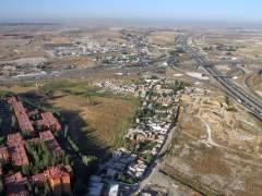 Imagen aérea de la Cañada Real. (JORGE PARÍS)