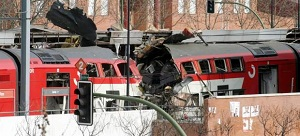 Dos vagones reventados en Atocha el 11-M.
