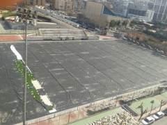 Imágen de la instalación deportiva José Barnés en pleno centro de la ciudad de Murcia. (F. B.)