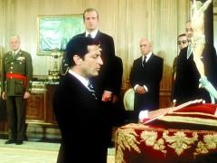 Jura de Suárez como presidente. (ARCHIVO)