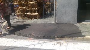 Acera de Sevilla en Semana Santa. (S. D.)