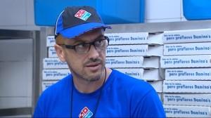 Jesús Navarro, director de Operaciones de Domino's Pizza, infiltrado como un trabajador más. (LASEXTA)
