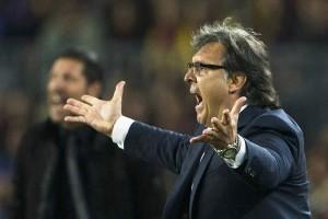 El entrenador argentino del FC Barcelona Gerardo 'Tata' Martino durante un partido. (EFE)