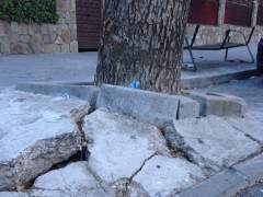 Calzadas deterioradas en Vicálvaro, Madrid. (MARÍA DEL CARMEN NAVARRO)