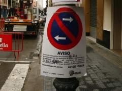 Estacionamiento prohibido de forma temporal. (JACOBO PAYA)