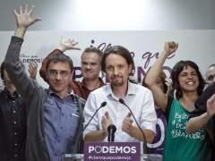 Pablo Iglesias, cabeza de lista de Podemos a las Elecciones Europeas. (Emilio Naranjo / EFE)