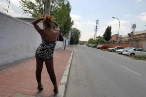 Imagen de archivo de una prostituta.