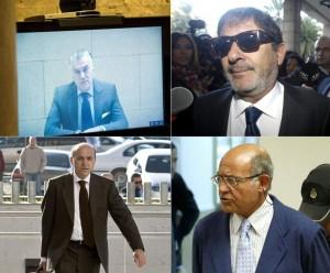 Cuatro imputados por corrupción, algunos cumpliendo condena en la cárcel: Luis Bárcenas (Gürtel), Francisco Javier Guerrero (ERE andaluces), José María del Nido y Díaz Ferrán.
