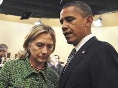 El presidente de EE UU, Barack Obama, junto a la exsecreatia de Estado, Hillary Clinton. (EFE)