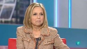 María Teresa Gómez-Limón, diputada del PP en la Asamblea de Madrid, durante una intervención en televisión. (RTVE)