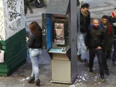 Prostitución en la calle Montera, Madrid. (JORGE PARÍS)