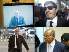 Cuatro imputados por corrupción, algunos cumpliendo condena en la cárcel: Luis Bárcenas (Gürtel), Francisco Javier Guerrero (ERE andaluces), José María del Nido y Díaz Ferrán. (EFE / ARCHIVO)
