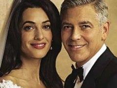 Boda de George Clooney y Amal Alamuddin en la revista '¡Hola!'.