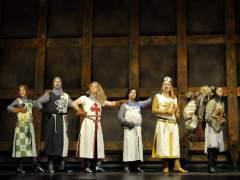 Imagen de archivo de parte del elenco del musical 'Spamalot' en Barcelona.