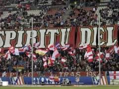 Imagen de archivo del Frente Atlético, los hinchas radicales del Atlético de Madrid. (EFE)
