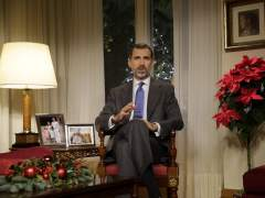Felipe VI durante el mensaje navideño. (ÁNGEL DÍAZ /EFE)