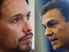 Pablo Iglesias y Pedro Sánchez (ARCHIVO)
