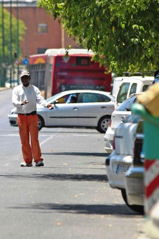 Un gorrilla en la calle Torneo de Sevilla. PACO PUENTES (ARCHIVO)
