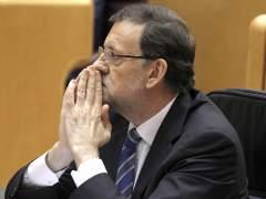 Rajoy comparece en el Parlamento por el 'caso Bárcenas' (J.J. GUILLÉN /EFE)