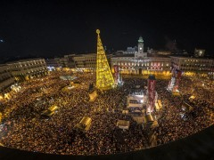 La Puerta del Sol, abarrotada (EFE)