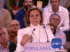 La secretaria general del PP, María Dolores de Cospedal. (EP)
