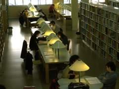 Varios universitarios estudian en una biblioteca (ACN)