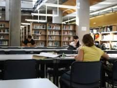 Una de las bibliotecas de la Universidad Autónoma de Madrid. (JORGE PARÍS)A