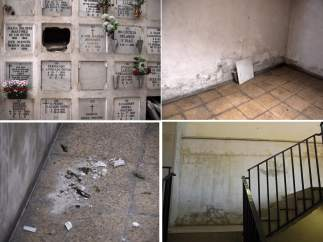 Imágenes en las que se muestra el estado en el que se encuentra el cementerio de la Almudena de Madrid. (IDORIS DUARTE)