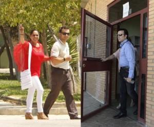 Fotomonjate de Isabel Pantoja (izquierda) y Ortega Cano (derecha)