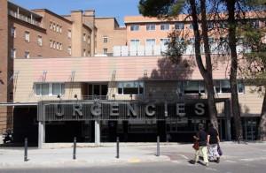 Entrada al servicios de Imagen de Urgencias del Hospital Arnau de Vilanova de Lleida. (ACN)