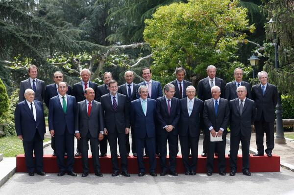 Mariano Rajoy se reúne con el Consejo Empresarial para la Competitividad.