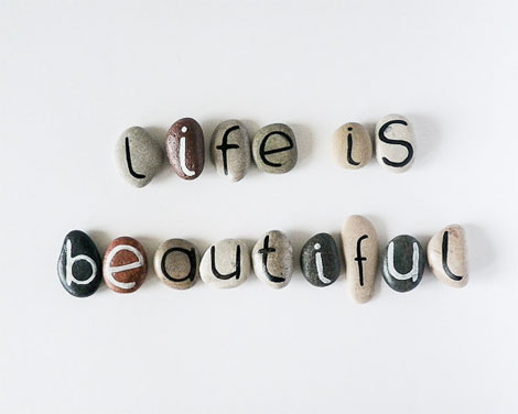 Piedras que se convierten en letras...