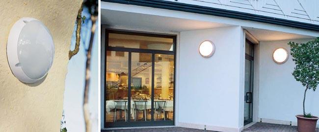 Casi mil formas de iluminar tu terraza balc n o porche for Plafones de pared exterior