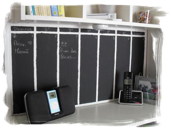 Oficinas aut nomos ni os volved al cole estrenando calendario mural de pizarra un hogar - Pizarra calendario ...