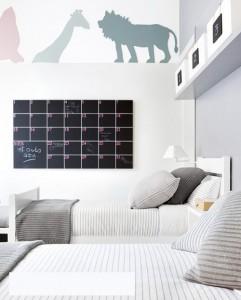Las habitaciones de los niños son lugares perfectos para recordarles sus tareas