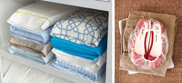 Juegos de ropa de cama ordenaditos y zapatos que no ensucian tu armario.