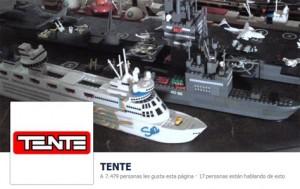 La página de fans de Tente en Facebook