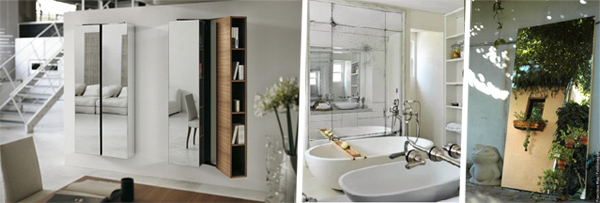 Para tu salón, tu baño y tu patio interior. Tres fórmulas que ganan vida con espejos.