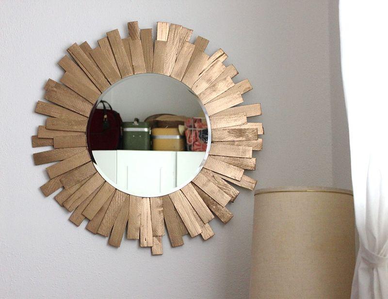 Starburst el espejo vintage de moda un do it yourself for Como hacer espejos vintage
