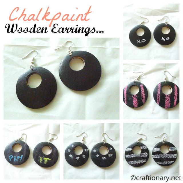chalk-paint-wooden-earrings