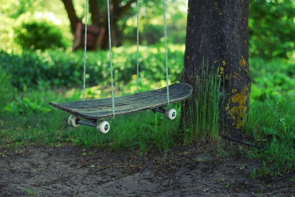 Skate Board resurrection - arte DIY monopatin columpio - blog Rep