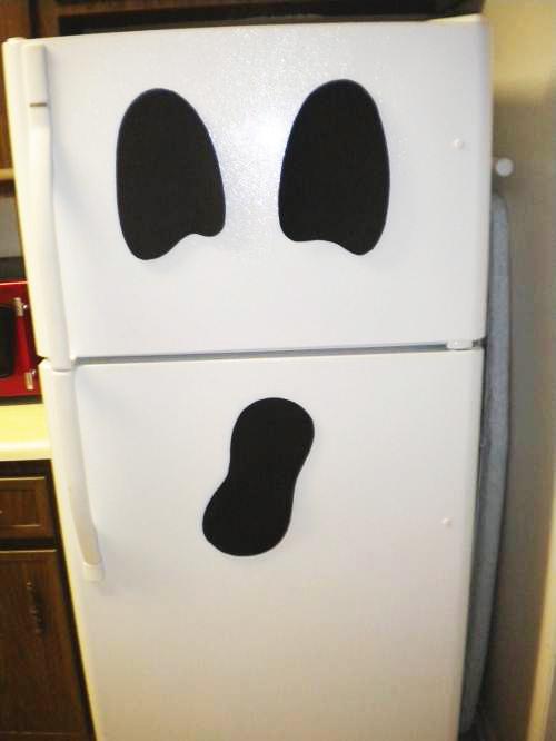 Decoracion Baño Halloween:Fridge Halloween Ghost
