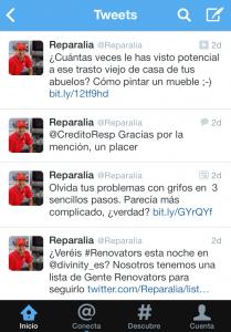 Reparalia está en Twitter: obtén nuestros consejos en cualquier momento y lugar desde tu móvil
