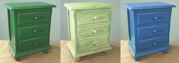 Tecnicas pintar muebles envejecer muebles con bet n de - Pintar muebles colores ...