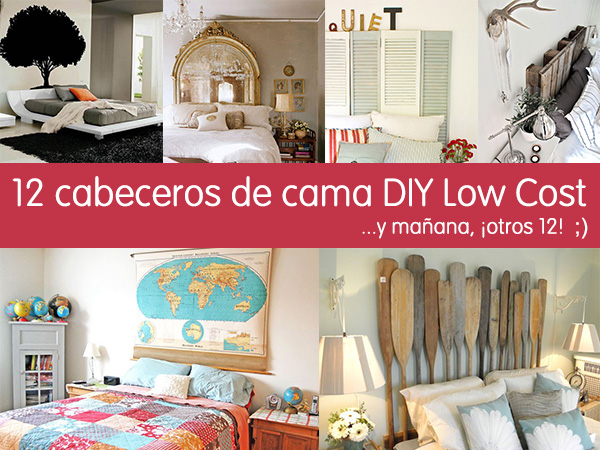 12 cabeceros de cama diy low cost que te sorprender n for Decoracion hogar original